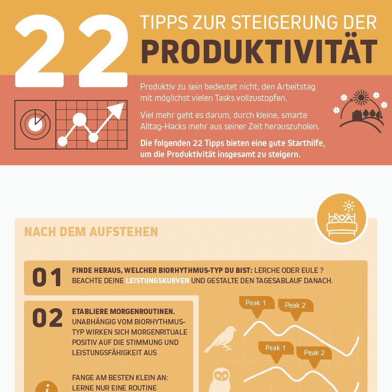 Infografik Portfolio Produktivität