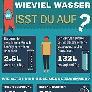 Portfolio: Wieviel Wasser isst Du auf?