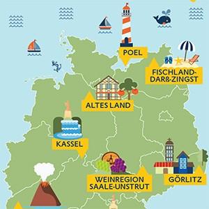 Deutschland neu entdeckt Karte